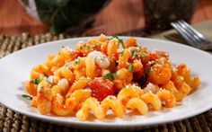 Barilla® Cellentani with Barilla® Traditional Sauce, Roasted Red ...
