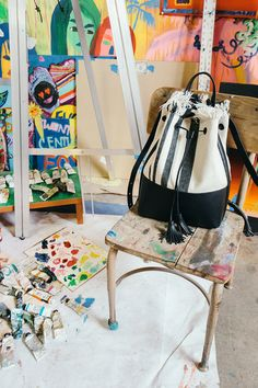 Because of its everlasting influence on fashion, art has been a continuous and favorite theme at HonestlyWTF. So you can imagine how ecstatic we are whenever those two worlds collide, like today, with our friends at… Lola Rose, Cute Office, Go Bags, Cool Style, My Style, Loeffler Randall, Creative Studio, Office Decor, Bag Accessories