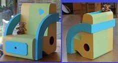 Fauteuil avec kraftage http://coticartonaussi.over-blog.com/article-petit-fauteuil-krafte-66556220.html et structure http://coticartonaussi.over-blog.com/article-debut-fauteuil-enfant-65761212.html