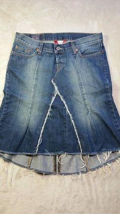 LUCKY BRAND Denim Skirt total  Distressed size 6 28 #LuckyBrand #Maxi