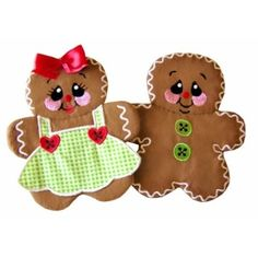 Gingerbread Potholders & Appliques Machine Embroidery Designs