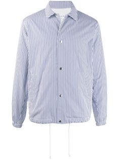 Comme Des GarÇons Shirt Striped Shirt In Blue Shirt Jacket, Shirt Dress, Comme Des Garçons Shirt, Comme Des Garcons, Size Clothing, Casual Wear, Women Wear, Blue And White, Long Sleeve