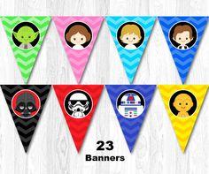 Star Wars Birthday Party Banner Star Wars Birthday Banner
