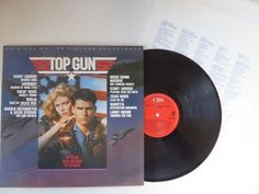 Top Gun Original Motion Picture Soundtrack Vinyl LP 1986 Lyric Inner CBS 70296