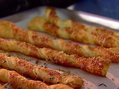 Recipe Video for Ina Garten's Parmesan and Gruyère Cheese Straws. So easy!