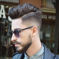 Taper Fade with Thick Comb Over