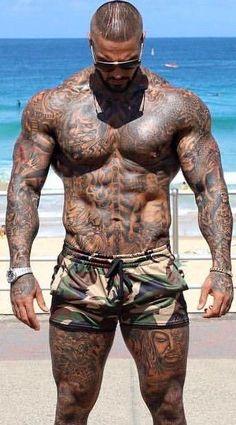 Board Shorts Men Beach Short Swimsuit Brand Stripe Quick Dry Beachwear Camouflage / S Accesorios Sexy Tattoos, Body Art Tattoos, Tattoo Art, Ab Tattoo, Tribal Tattoos, Wolf Sketch Tattoo, Tattoo Arm Mann, Sexy Tattooed Men, Full Body Tattoo