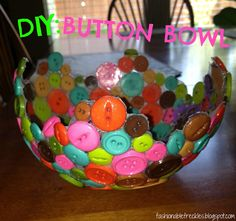 DIY: BUTTON BOWL - a step by step guide.