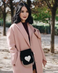 All bundled up in my favorite pink coat from 🎀 I love it so much, I have to keep myself from wearing it on every single trip! Korea Winter Fashion, Autumn Fashion, Filipino Fashion, Korean Fashion, Heart Evangelista Style, Classy Outfits, Cute Outfits, Minimalist Fashion, Spring Outfits