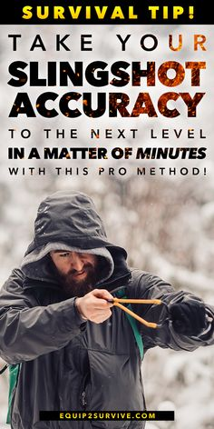 Learn how to quickly become deadly accurate with a slingshot! Let us show you how to quickly overcome the slingshot accuracy learning curve so that you can enjoy adding this versatile survival tool to…More Survival Weapons, Survival Life, Survival Food, Homestead Survival, Apocalypse Survival, Wilderness Survival, Camping Survival, Outdoor Survival, Survival Prepping