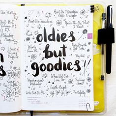What are your favorite oldies songs? I have many more, these are just the first ones that came to mind, probably because they have such great memories attached to them!  Have a great weekend everyone!! ❤️ #hobonichi #journaling #journal...