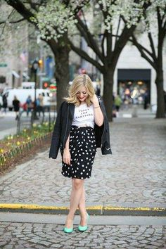 Can't go wrong with a polka dotted pencil skirt <3 #stylegallery