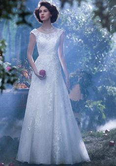 Alfred Angelo mermaid styled gown with beadwork and embroidery I Style: 239 I https://www.theknot.com/fashion/239-disney-fairy-tale-weddings-by-alfred-angelo-wedding-dress?utm_source=pinterest.com&utm_medium=social&utm_content=june2016&utm_campaign=beauty-fashion&utm_simplereach=?sr_share=pinterest