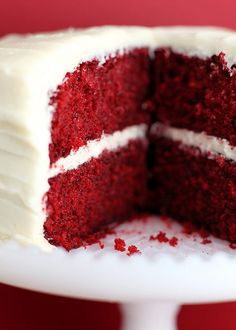 "Bakerella Red Velvet Cake.  The Best Cake!  ***Creamed Cheese Frosting is traditional on Red Velvet Cake, but my family loves Red Velvet Cake with an icing very similar to Pioneer Woman's ""That's The Best Frosting I've Ever Had"" frosting.  So, so good!!***"