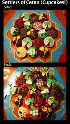 Settlers of Catan (Cupcakes)
