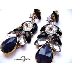 Black Blue Earrings