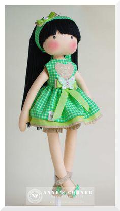 Susie hand made rag doll by AnneCorner от AnneCorner на Etsy