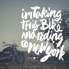 These are lyrics from @passenger song 'Riding to New York'. A very moving story of a guy he met while on tour in Minneapolis with terminal illness riding to New York to see his kids one last time. Take a listen if you get the chance.  #handlettering #lettering #typography #type #calligraphy #brushscript #brush #passenger #song #lyrics #motorbike