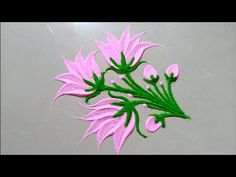 Lotus flower rangoli design Very easy rangoli design Easy Rangoli Designs Videos, Rangoli Designs Simple Diwali, Simple Rangoli Border Designs, Best Rangoli Design, Indian Rangoli Designs, Rangoli Designs Latest, Rangoli Designs Flower, Free Hand Rangoli Design, Small Rangoli Design