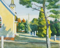 Edward Hopper,   Church in Eastham, 1948,   watercolor and pencil on paper,  21 5/8 x 26 58""