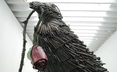 Massive Sculptures Made of Nails, Bottle Caps, and Brushes - My Modern Metropolis