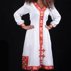 What Habesha woman doesn't like red? This is a perfect conservative yet modern dress for all occasions. This dress would be perfect as a brides maid's Melse dress. Message me for questions #habesha #habeshaparty #habeshawear #zuria #zurya #melse #milse #habeshawedding #Ethiopia #Eritrea #Ethiopiangirls #Eritreangirls