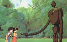 """Studio Ghibli. Tenkû no shiro Rapyuta  (El castillo en el cielo) 1986. Escrita y dirigida por Hayao Miyazaki. La idea nace de las islas flotantes de """"Gulliver"""". Una preciosa historia, donde se mezcla la amistad, el amor inocente y el respeto por la naturaleza."""