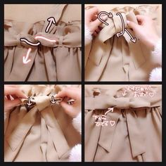 How to tie belt Fashion Beauty, Womens Fashion, Fashion Tips, Light Spring, Clothing Hacks, Japan Fashion, Fashion Books, Refashion, Handicraft