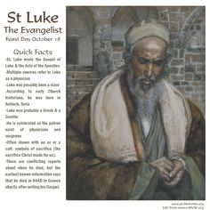 Quick facts about St. Luke the Evangelist, on his feast day.