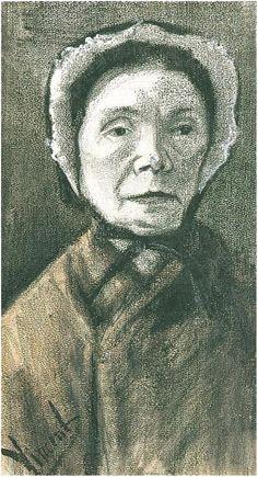 Woman with Dark Cap (Siens Mother?) by Vincent Van Gogh - 1933