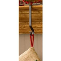 Park Designs Christmas Stocking Hangers Holders Metal Black or Red by Park Designs (22-801)