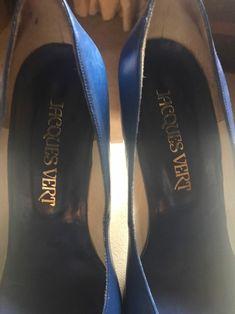 Vintage Royal Blue Court Shoes Pumps Slip Ons | Etsy Blue Court Shoes, Wine Shoes, Pump Shoes, Pumps, Blue Stilettos, Leather High Heels, Beautiful Shoes, Deep Blue, Royal Blue