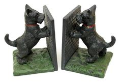 Cast Iron Scottie Standing Bookends