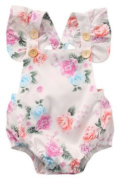 Cheap baby girl floral romper, Buy Quality girls floral romper directly from China cotton baby Suppliers: Cotton Baby Girls Floral Romper Summer Headband Sunsuit Outfit Set Kids Girl Clothes Gift Gift Floral Bodysuit, Floral Romper, Floral Jumpsuit, Ruffle Romper, White Bodysuit, Baby Bodysuit, Baby Girl Romper, Baby Girl Newborn, Baby Girls