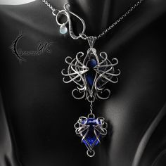 XEQNILLYS - Silver and Blue Quartz by LUNARIEEN.deviantart.com on @DeviantArt