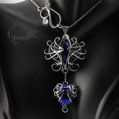 XEQNILLYS - Silver and Blue Quartz by LUNARIEEN