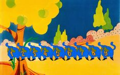 """The Beatles Yellow Submarine """"All Too Much"""" Cat Monsters Production Cel Setup (United Artists/King - Available at 2015 December 13 - 14 Animation. Little Nemo In Slumberland, Title Card, Yellow Submarine, Akira, The Beatles, Alice In Wonderland, Comic Art, Concept Art, Illustration Art"""