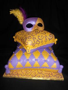 Masquerade Pillow Cake