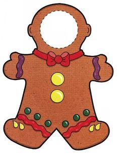 Gingerbread man frame. Pic op