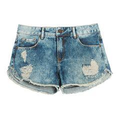 LEELOO - Short jeans Leeloo girassol - azul
