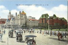 The Colorful Boardwalk Atlantic City New Jersey. the old Blenheim Motel where I worked one summer. It was leveled to make room for casinos. Jersey Girl, New Jersey, Margate Nj, Jewel Of The Seas, Vacation Days, Asbury Park, Seaside Towns, Atlantic City, Old Pictures