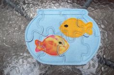 Fish Bowl Shaped Puzzle with two fish by cabincraftycreations