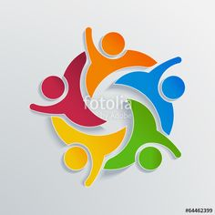 Teamwork Hi 5 in white paper.Concept of we are one - Buy this stock vector and explore similar vectors at Adobe Stock Teamwork Logo, Communication Logo, People Logo, Vector Art, Team Logo, Clip Art, Concept, Stock Photos, 3d