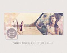 Facebook Timeline Cover - Modern Vintage Bokeh Arrow Photoshop Template - Instant Download