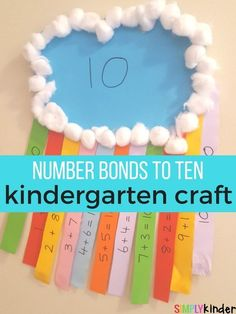 number bonds to ten rainbow craft pinterest