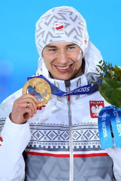 SKI JUMPING MEN'S LARGE HILL INDIVIDUAL:  Gold medalist Kamil Stoch of Poland