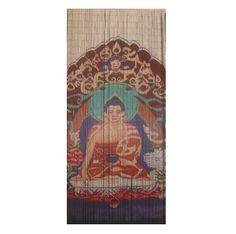 Buy the Sitting Buddha Beaded Door Curtain online featuring a serene Buddha seated on a shrine, surrounded by colourful pattern. Beaded Door Curtains, Color, Stuff To Buy, Home Decor, Curtains, Color Patterns, Shrine, Door Curtains, Doors