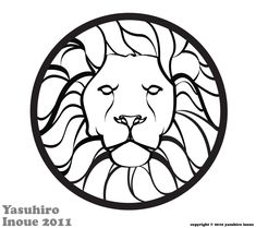 Lion emblem.  Might be a good motif for stained glass.