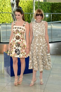 Bee Shaffer and Anna Wintour attend the 2014 CFDA fashion awards at Alice Tully Hall, Lincoln Center on June 2, 2014 in New York City.