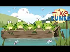 Animated cartoon song of Five Little Specked Frogs nursery rhyme for children. This is a fun song for children to sing along and learn how to count! Fun Songs, Kids Songs, 5 Little Speckled Frogs, Frog Nursery, Frog Song, Number Song, Counting Songs, Cartoon Songs, Kids Nursery Rhymes